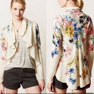 Knitted & Knotted floral open-front cardigan